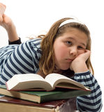 Bored of Studying Stock Photo