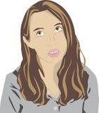 Bored teen illustration Stock Photo