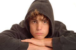 Bored teenage boy Royalty Free Stock Image