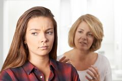 Free Bored Teenage Girl Being Told Off By Mother Royalty Free Stock Photos - 178579108