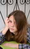 Bored teenager portrait Stock Image