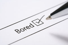 Bored tick box Royalty Free Stock Images