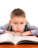 Bored and Tired Schoolboy Royalty Free Stock Photo