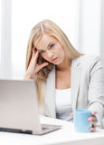 Bored and tired woman Royalty Free Stock Image