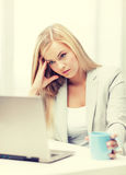 Bored and tired woman Royalty Free Stock Photo