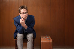 Bored Traveller Royalty Free Stock Photo