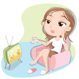Bored tv show Stock Images