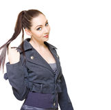 Bored Unproductive Business Woman Twirling Hair Royalty Free Stock Photo