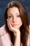 Bored Vrouw Stock Afbeelding