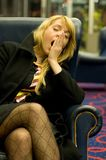 Bored vrouw Stock Fotografie