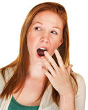 Bored Woman Yawning Stock Photography