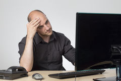 Bored at work Stock Images