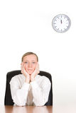 Bored young businesswoman Royalty Free Stock Photo