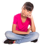 Bored Young Girl III Royalty Free Stock Images