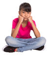Bored Young Girl IV Stock Photo