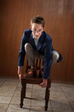 Bored Young Lad Royalty Free Stock Photography