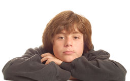 Bored young teenage boy Royalty Free Stock Photo