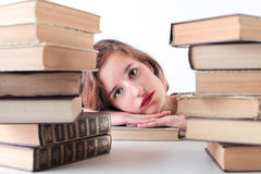 Bored young woman Royalty Free Stock Photo