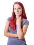 Bored young woman Stock Image