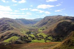 Boredale from Hallin Fell, English Lake District. Royalty Free Stock Image
