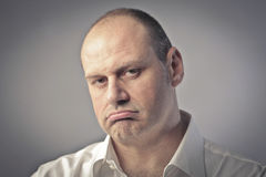 Boredom. Portrait of a man with bored expression Royalty Free Stock Photo