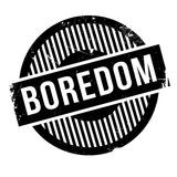 Boredom rubber stamp Stock Image