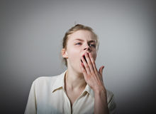Boredom and yawn Royalty Free Stock Photography