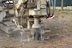 Borehole For Soil Testing Stock Image