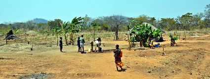 Borehole Rural Niassa Province, Mozambique Royalty Free Stock Photos