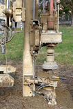 Borehole for soil testing Royalty Free Stock Image