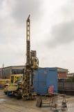 Borehole for soil testing or environmental survey Stock Image