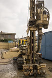 Borehole for soil testing or environmental survey Stock Images