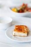 Borek at breakfast. Traditional balkanian breakfast pie : borek Royalty Free Stock Photos