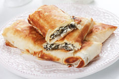 Borek with chard and cheese filling Royalty Free Stock Images