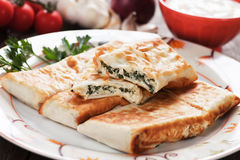 Borek with chard and cheese filling Royalty Free Stock Image