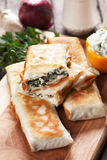 Borek with chard and cheese filling Stock Image