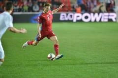 Borek Dockal. Prague 28.03.2015 _ Match of the EURO 2016 qualification group A Czech Republic - Latvia 1: 1 (0: 1). Goals 90 'Pilar - 30' Višnakovs Royalty Free Stock Photo