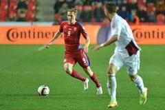 Borek Dockal. Prague 28.03.2015 _ Match of the EURO 2016 qualification group A Czech Republic - Latvia 1:1 (0:1). Goals 90 'Pilar - 30' Višnakovs Royalty Free Stock Photos