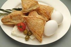 Borek med ägg Arkivbild