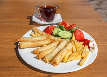 Borek outdoor served Stock Images