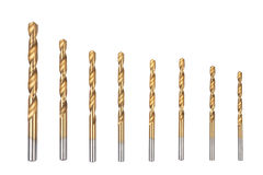 Borer. Drill bits isolated on a white background Stock Images