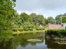 The  borg Verhildersum. The romantic garden of the  borg Verhildersum a castle in Leens in Groningen in the Netherlands Stock Photo