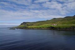 borgarfj dur eystri dom wiejski Iceland Zdjęcia Royalty Free