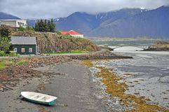 Borgarnes, Iceland. Borgarnes village in western Iceland Royalty Free Stock Images
