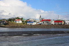 Borgarnes. The small town Borgarnes in Iceland Royalty Free Stock Photography
