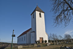 Borge Church (east facing). Borge Church is a church from 1861 in Fredrikstad municipality, Østfold county and built in stone and brick. Norway Royalty Free Stock Photography