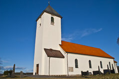 Borge Church (facing west). Borge Church is a church from 1861 in Fredrikstad municipality, Østfold county and built in stone and brick. Norway Stock Photo