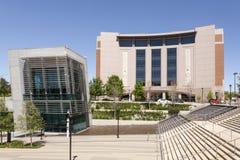 Borgerliga domstolar som bygger i Fort Worth, TX, USA arkivbilder