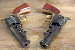 borgerliga pistoler kriger Arkivbilder