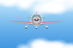 Borgerligt ljust flygplan stock illustrationer